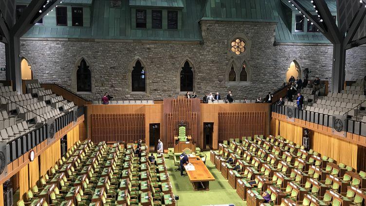 La Chambre des communes du Canada, à Ottawa, le 15 janvier 2019. (MICHEL COMTE / AFP)