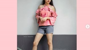 L'actrice indienneAnaswara Rajan pose en short.  (CAPTURE D'ECRAN INSTAGRAM)