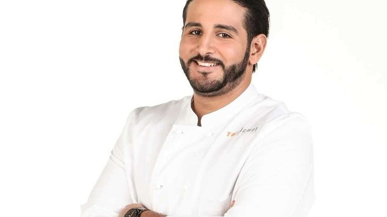 """Le chefMohamed Cheikh a remportéla douzième saison de l'émission culinaire de M6 """"Top Chef"""", le 9 juin 2021. (MARIE ETCHEGOYEN / M6)"""