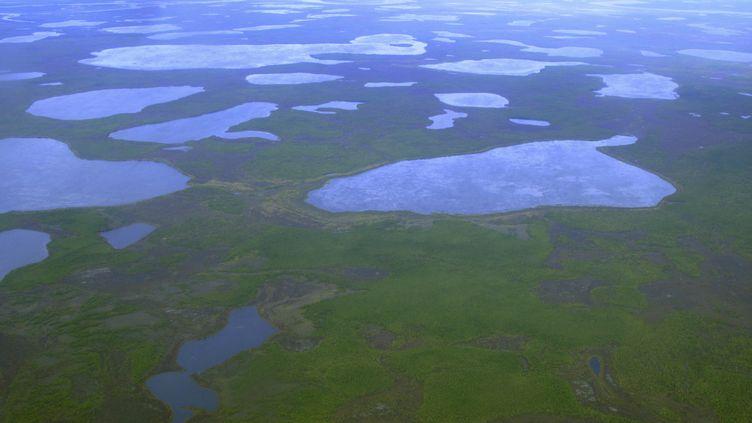 Une vue aérienne du permafrost sibérien, près de la ville de Tcherski (Russie), le 28 août 2007. (REUTERS  STAFF / REUTERS)