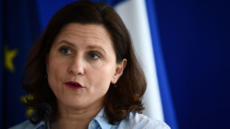 Roxana Maracineanu le 9 mars 2021. (MARTIN BUREAU / AFP)