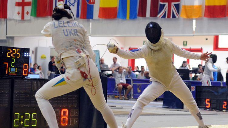 Bolade Apithy (à gauche) en action