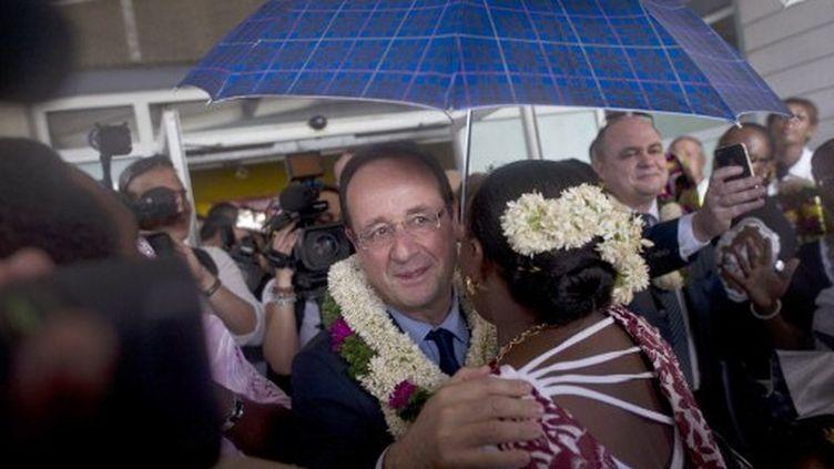 François Hollande arrive à Mayotte, le 31 mars 2012. (AFP - Fred Dufour)
