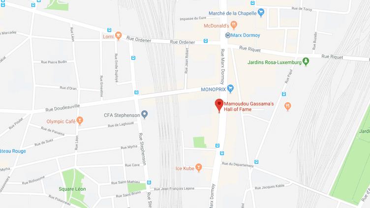 Le 51 rue Marx-Dormoy, à Paris, où Mamadou Gassama a sauvé la vie d'un enfant, en mai 2018. (GOOGLE MAPS)