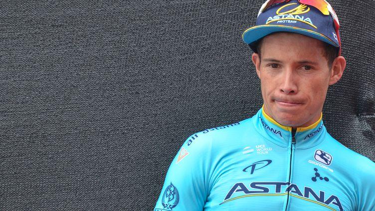 Miguel Angel Lopez lors du Tour d'Abu Dhabi. (ARTUR WIDAK / NURPHOTO)
