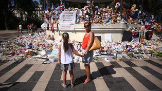 Le mémorial aux victimes de l'attentat de Nice,le 12 août 2016. (MAXPPP)