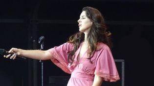 Lana Del Rey le 24 août 2014 à Rock en Seine.  (Laure Narlian / Culturebox)