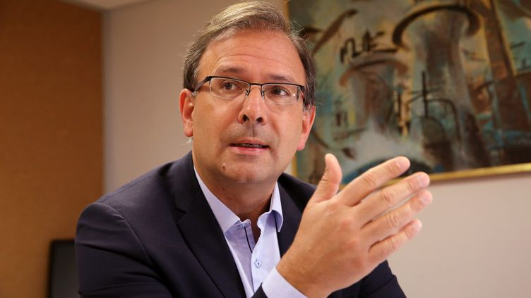 Jean-Noël Tronc, directeur général de la Sacem, à Aix-en-Provence, le 28 mars 2018. (MERCIER SERGE / MAXPPP)