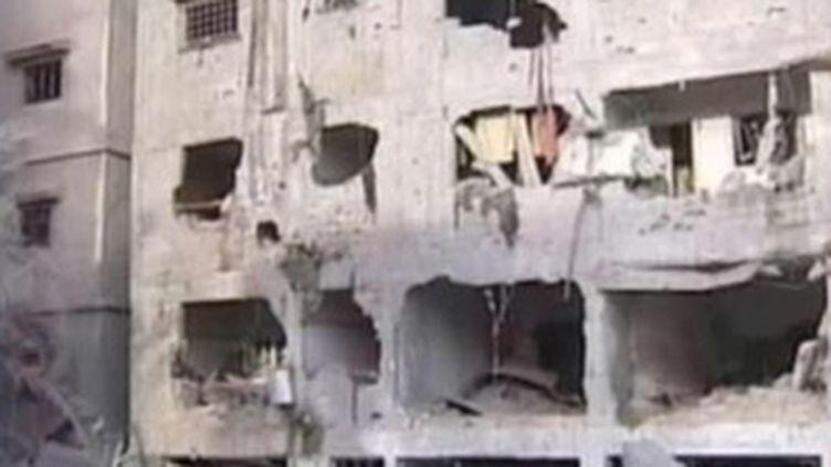 Ruines à Gaza, le 16 janvier 2009. (© France 2)