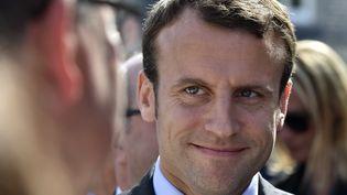 Emmanuel Macron, ministre de l'Economie, à Egletons (Corrèze), le 21 mai 2016. (GEORGES GOBET / AFP)