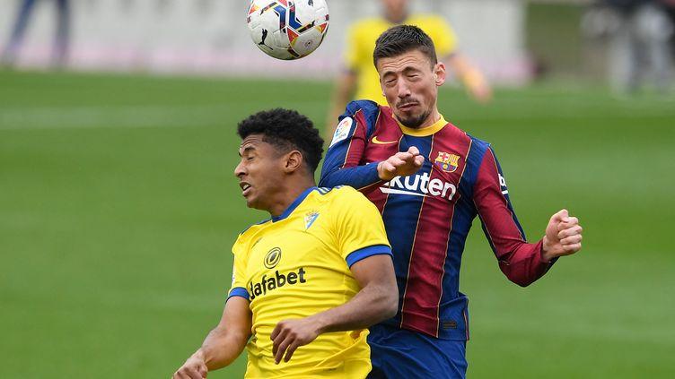 Clément Lenglet a provoqué un penalty avec le Barça (JOSEP LAGO / AFP)
