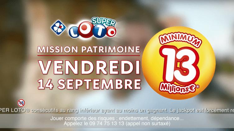 Une publicité pour le loto Mission patrimoine, dont le tirage a eu lieu le 14 septembre. (FDJ)