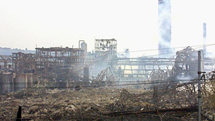 L'explosion de l'usine AZF à Toulouse, le 21 septembre 2001. (PASCAL PAVANI / AFP)