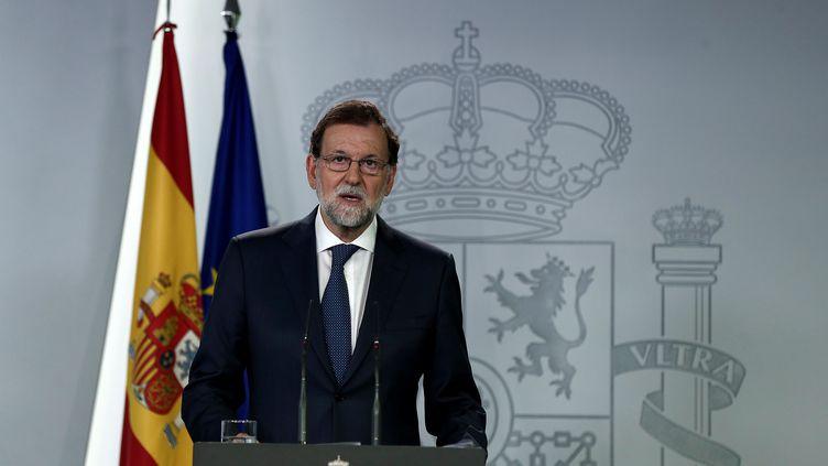 Le chef du gouvernement espagnol, Mariano Rajoy, le 7 septembre 2017 à Madrid. (BURAK AKBULUT / ANADOLU AGENCY / AFP)