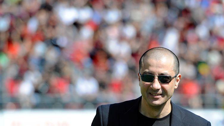 Mourad Boudjellal, le président du club de rugby de Toulon, le 2 avril 2011. (GERARD JULIEN / AFP)