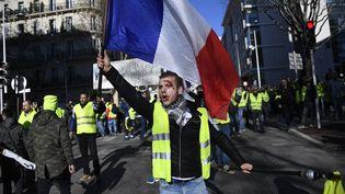 Un manifestant dans les rues de Toulon dans le Var, le 12 janvier 2019. (CHRISTOPHE SIMON / AFP)