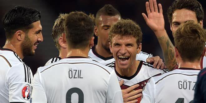 L'Allemagne de Thomas Müller a un pied à l'Euro