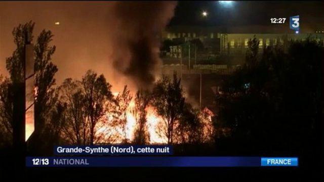 Le camp de migrants de Grande-Synthe ravagé par les flammes