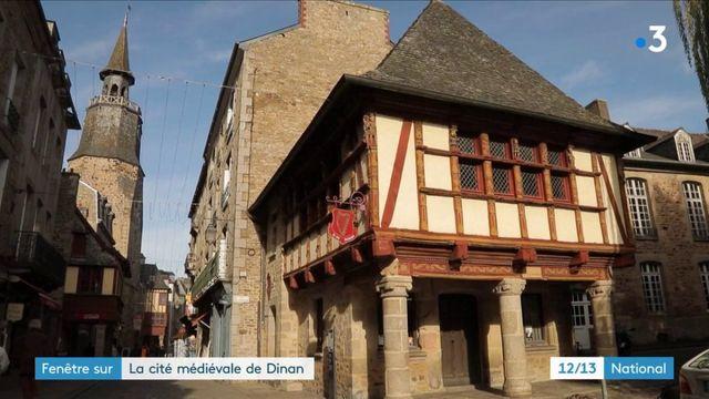 Fenêtre sur la cité médiévale de Dinan