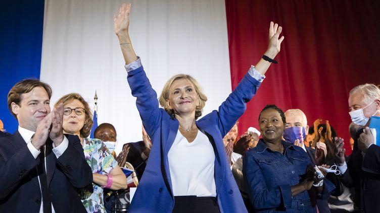 Valérie Pécresse, la présidente de la région Ile-de-France, à Boulogne-Billancourt (Hauts-de-Seine), le 20 juin 2021. (MAXPPP)