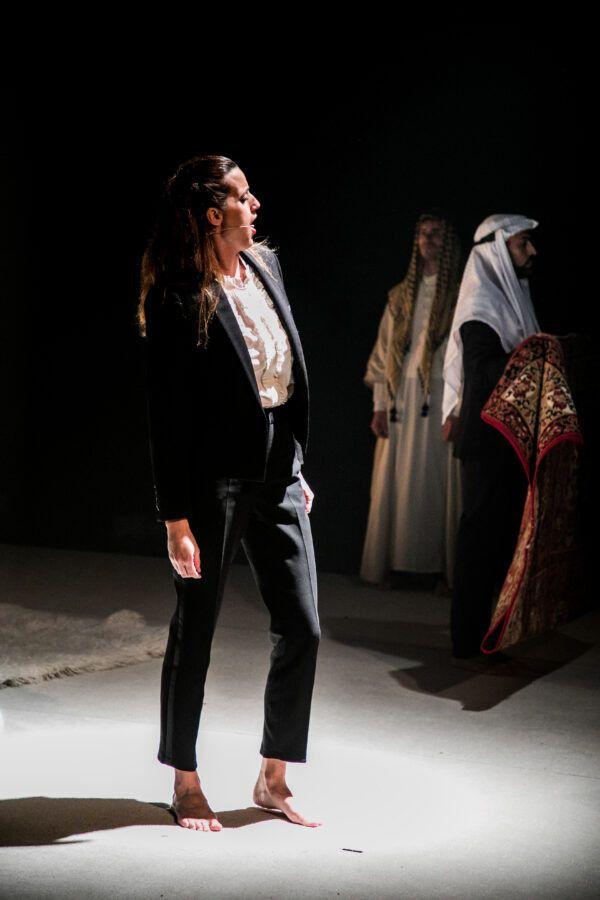 """Cecilia Meltzer dans """"Lawrence d'Arabie"""" d'Eric Bouvron. (AURORE VINOT)"""