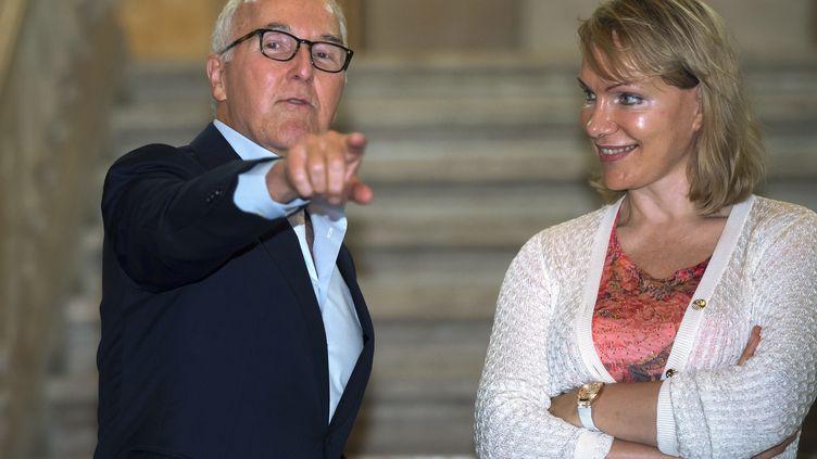 Frank McCourt et Margarita Louis-Dreyfus. (BERTRAND LANGLOIS / AFP)