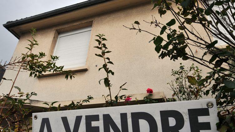 Une maison à vendre à Caen (Calvados). Photo d'illustration. (MYCHELE DANIAU / AFP)
