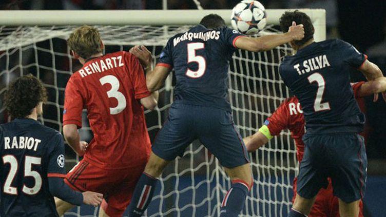Marquinhos s'élève au bon moment pour égaliser de la tête contre le Bayer Leverkusen