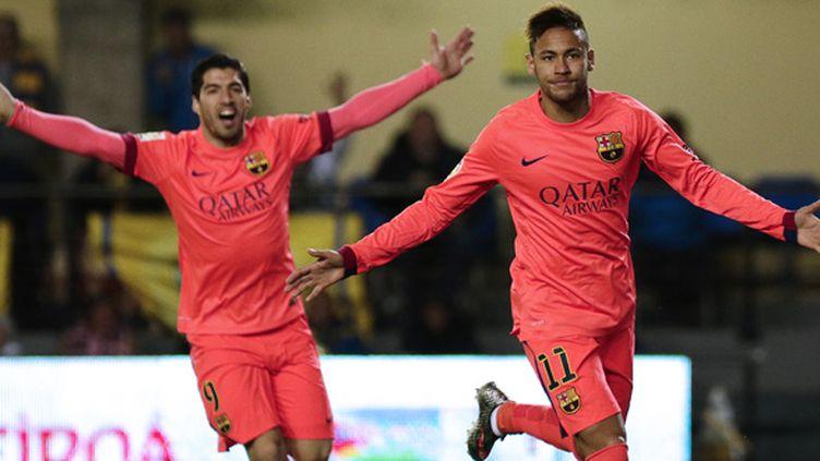 Neymar et Suarez les buteurs du soir pour le Barça (JOSE JORDAN / AFP)