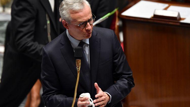 Le ministre de l'Economie, Bruno Le Maire, à l'Assemblée nationale, le 29 septembre 2020. (ALAIN JOCARD / AFP)