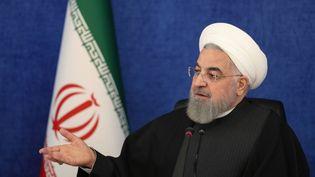 Le président iranien Hassan Rohani, à Téhéran, le 9 janvier 2021. (IRANIAN PRESIDENCY/HANDOUT / ANADOLU AGENCY / AFP)