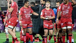Le RC Toulon s'est incliné face à l'équipe de Bristol, vendredi 16 octobre 2020. (CHRISTOPHE SIMON / AFP)