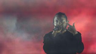 Kendrick Lamar, le 16 avril 2017, au Festival de musique et d'arts de Coachella Valley en Californie. (VALERIE MACON / AFP)
