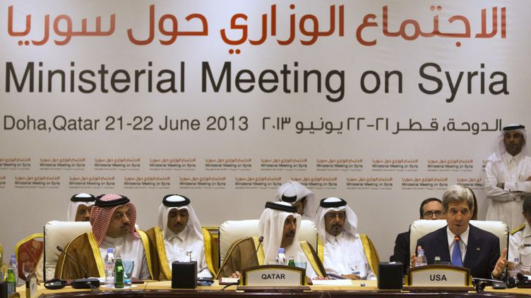 """Les onze pays """"amis de la Syrie"""" se sont réunis samedi 22 juin à Doha (Qatar). (JACQUELYN MARTIN / POOL)"""