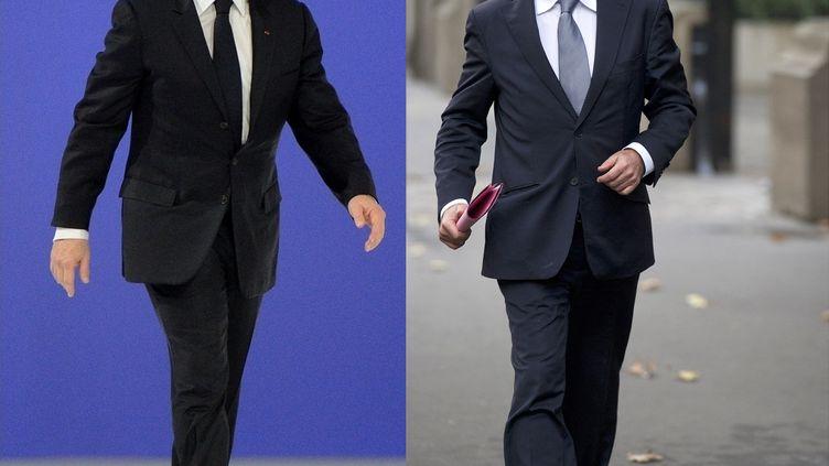 Le deuxième tour de l'élection, qui opposeraNicolas Sarkozy et François Hollande, aura lieu le 6 mai 2012. (ERIC FEFERBERG / AFP)