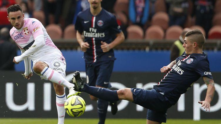 Pastore et Ibrahimovic déçus après la défaite face au Barça (THOMAS SAMSON / AFP)