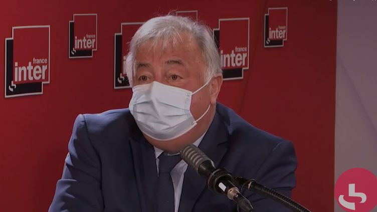 Le président du Sénat, Gérard Larcher, sur France Inter le 9 mars 2021. (FRANCEINTER / RADIOFRANCE)