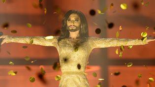Conchita Wurst a remporté, pour l'Autriche, le concours de l'Eurovision  (JONATHAN NACKSTRAND / AFP)