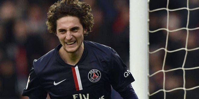 Le jeune joueur du PSG, Adrien Rabiot