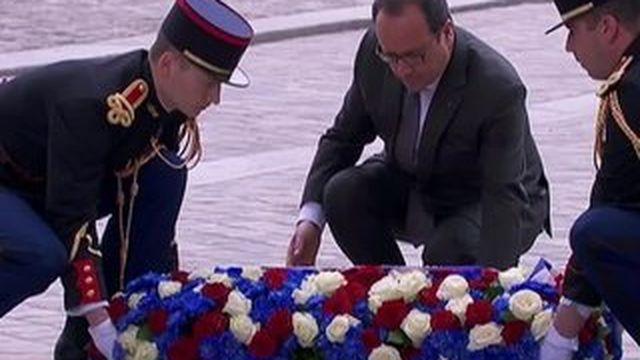 La France commémore le 70e anniversaire de la capitulation de l'Allemagne