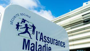 """Pancarte """"Sécurité Sociale - L'assurance maladie"""". (AFP)"""