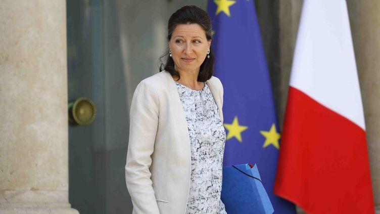 Agnès Buzyn, le 14 juin 2017 à la sortie du palais de l'Elysée. (PATRICK KOVARIK / AFP)