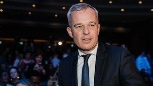 François de Rugy lors d'un meeting de campagne pour les européennes, à Paris, le 24 mai 2019. (KARINE PIERRE / HANS LUCAS / AFP)