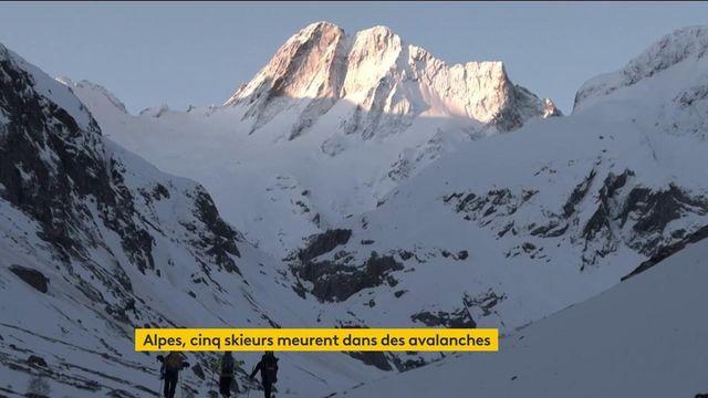 Avalanches : lundi noir dans les Alpes