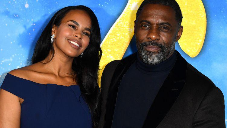 L'acteur Idris Elba et sa femme Sabrina Dhowre Elba en décembre 2019 à New York (ANGELA WEISS / AFP)
