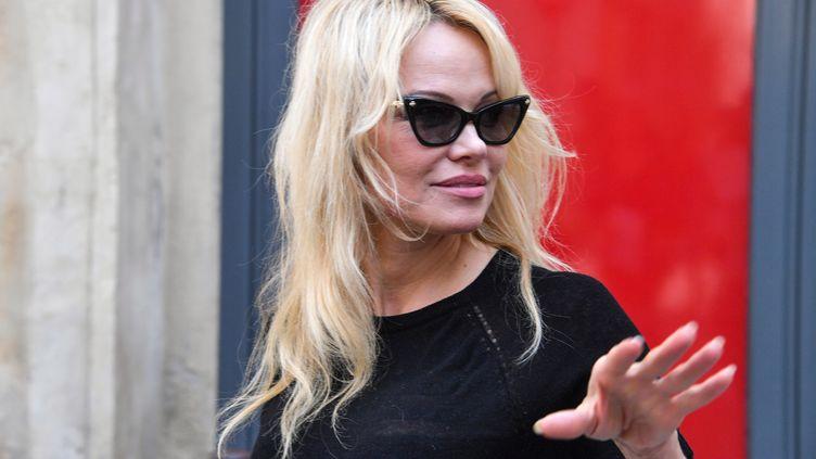 Pamela Anderson, le 18 mai 2018, à Nîmes (Gard). (PASCAL GUYOT / AFP)