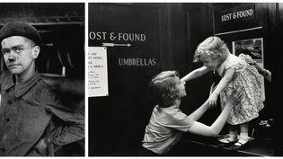 Sabine Weiss - A gauche, Jeune mineur, Lens, 1955 - A droite, Enfant perdu dans un grand magasin, New York, 1955  (Sabine Weiss)