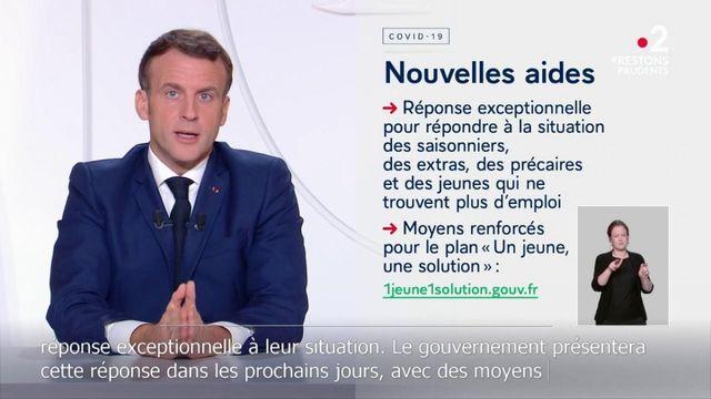 Covid-19 : Emmanuel Macron présente de nouvelles aides