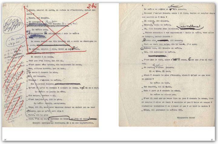 "Manuscrit de ""Ah ! Ernesto"" Maguerite Duras  (Thierry Magnier)"