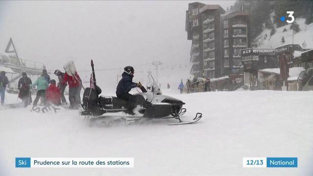 Haute-Savoie : les skieurs d'Avoriaz bravent le mauvais temps